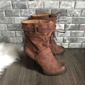 Nine West Vekalsbelle boot tan leather 9.5